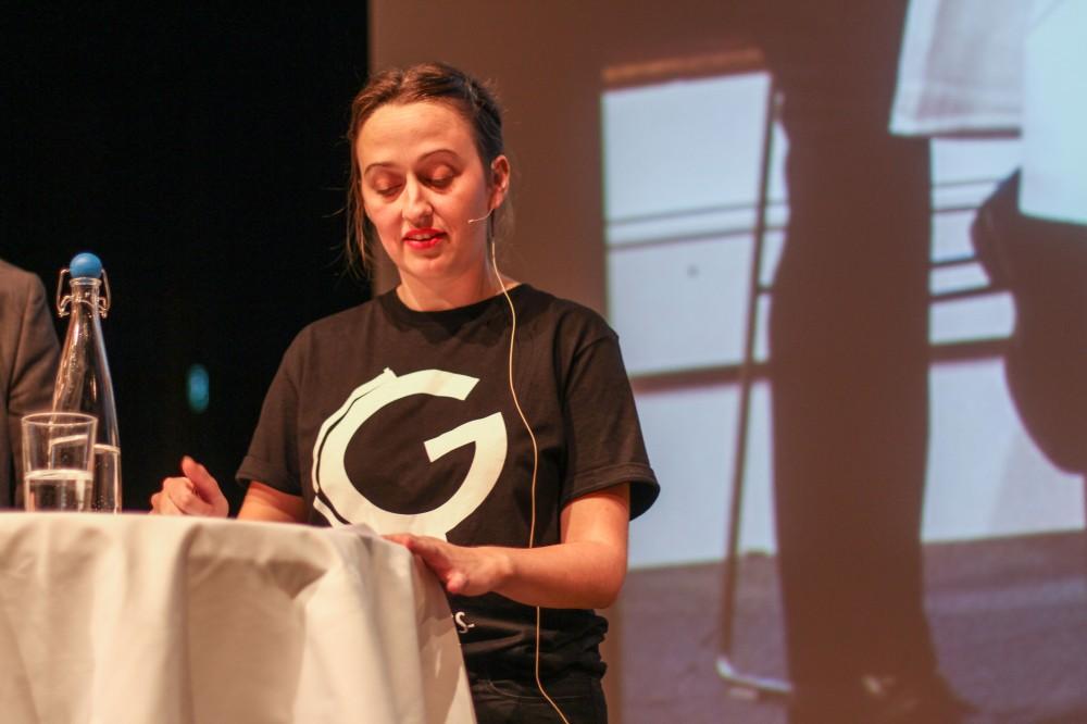 Nina Skranefjell på avslutningsmøte. Foto Amanda Iversen Orlich